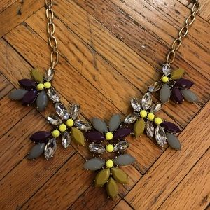 Beautiful Jcrew necklace (with 2 missing jewels)